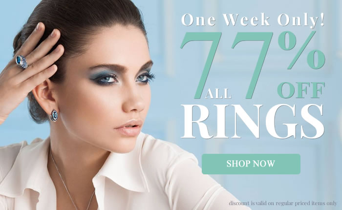 All Rings 77% OFF + All Other Jewelry 65% OFF