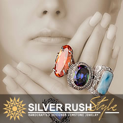 Unique Handmade Silver Jewelry with Stones and Gemstones