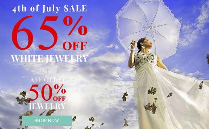 Happy 4th of July - Red + Blue + White Jewelry 65% OFF & more...