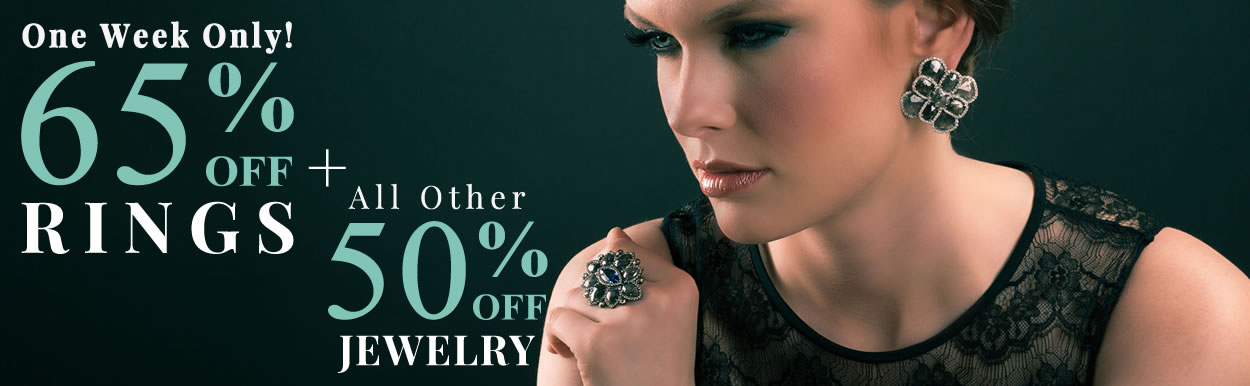 Rings 65% OFF + All Other Jewelry 50% OFF