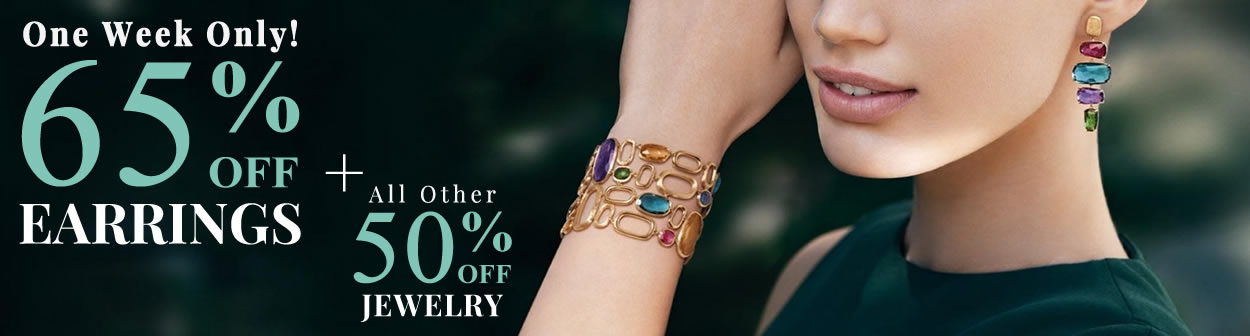 All Earrings 65% OFF + All Other Jewelery 50% OFF