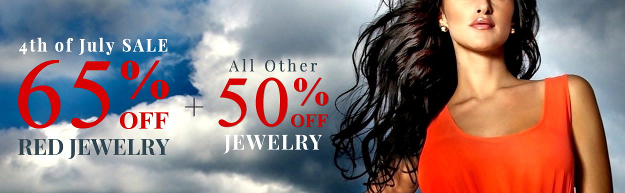 Happy 4th of July - Red Jewelry 65% OFF & All Jewelry 50% OFF