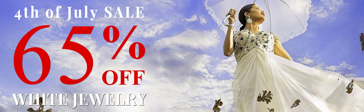 Happy 4th Of July - All White Jewelry 65% OFF & All Jewelry 50% OFF