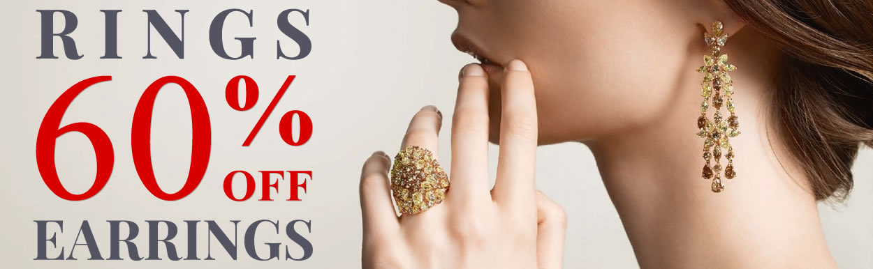 60% OFF Rings & Earrings