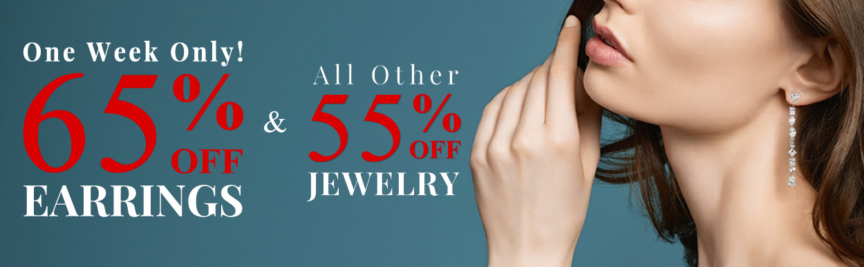 All Earrings 65% OFF & All Other Jewelry 55% OFF