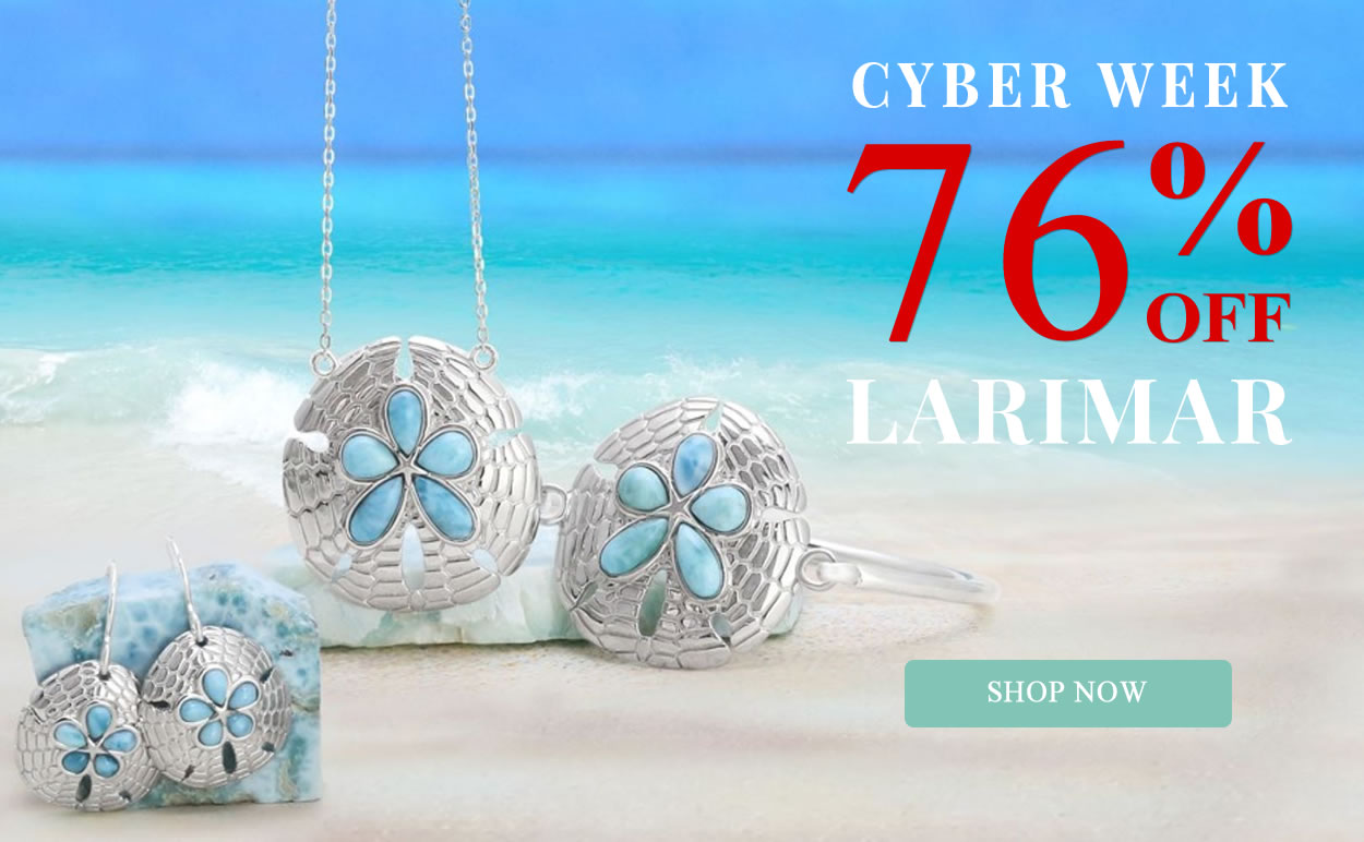 CYBER WEEK - Larimar Jewelry 76% OFF