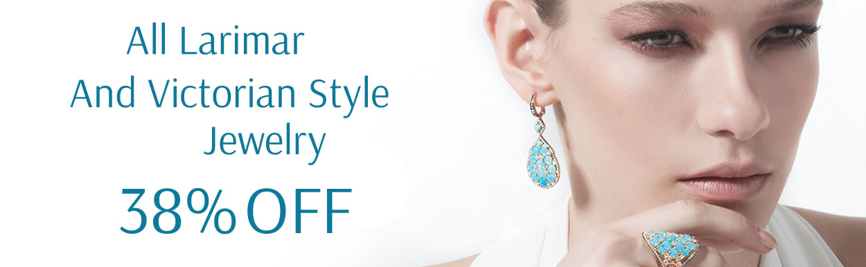 All Larimar And Victorian Style Jewelry 38%OFF