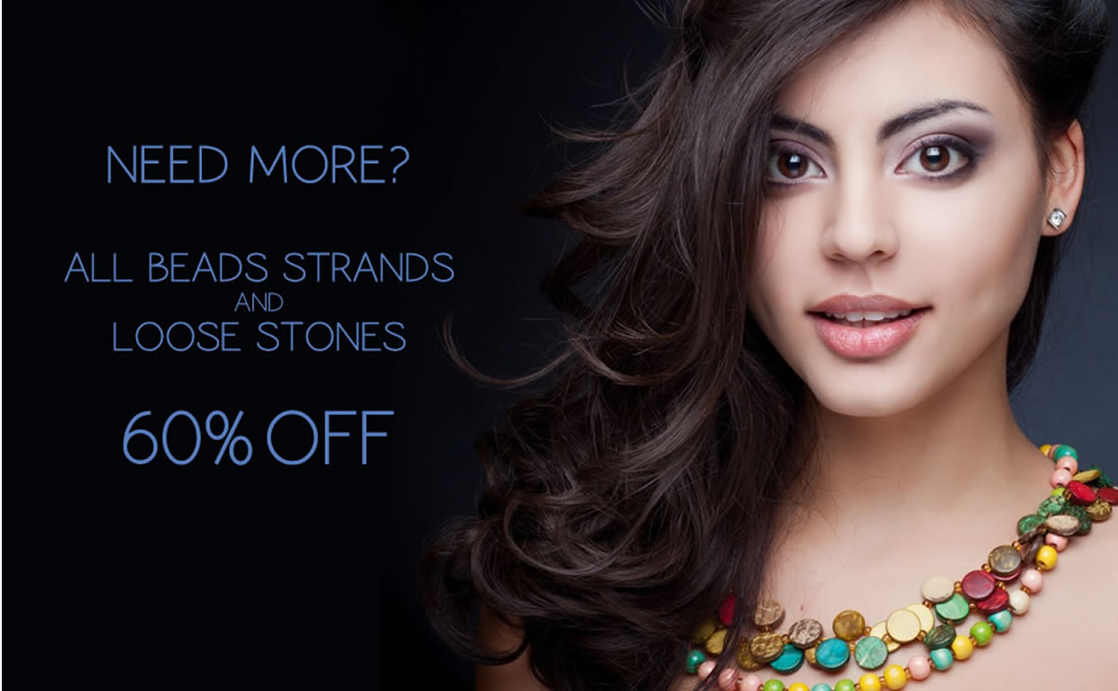 All Beads Strands & Loose Stones 60% OFF
