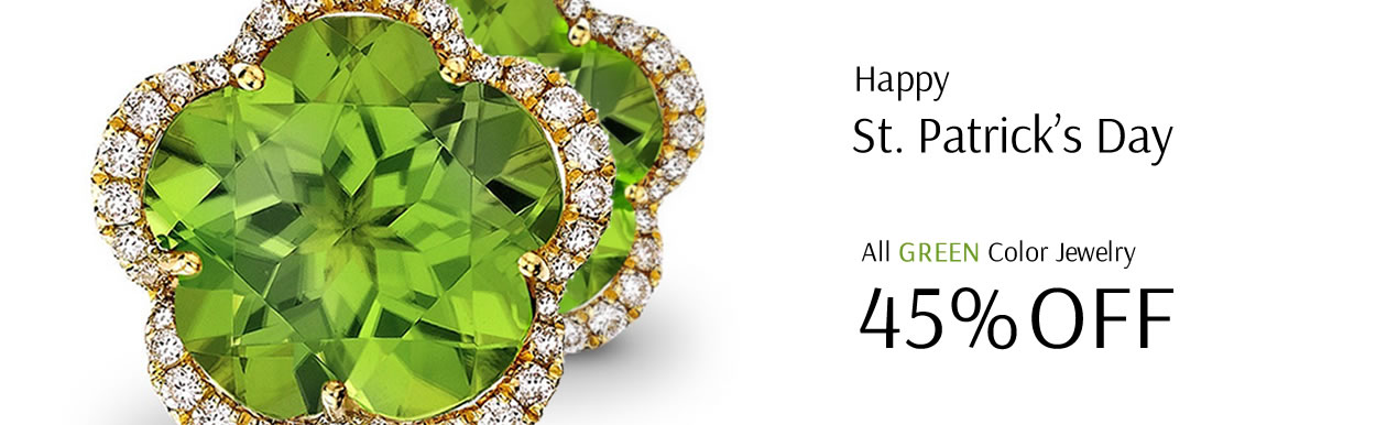 Happy St. Patrick's Day - All Green Color Jewelry 45% OFF