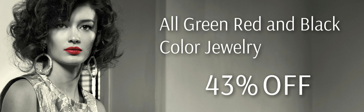 All Green, Red and Black Color Jewelry 43% OFF