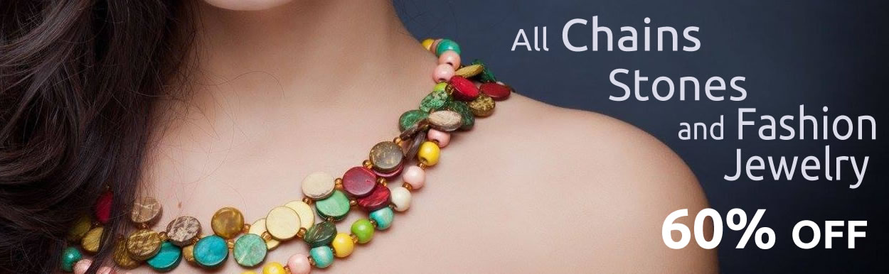 Chains, Stones and Fashion Jewelry 60% OFF