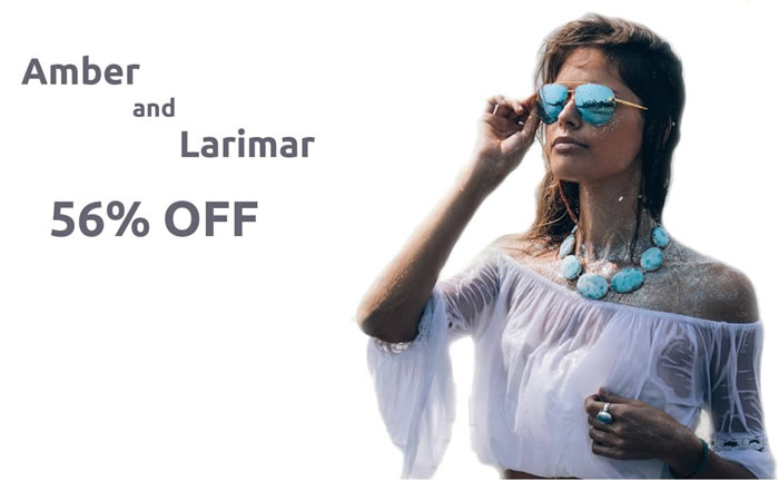 All Larimar and Amber Jewelry 56% OFF