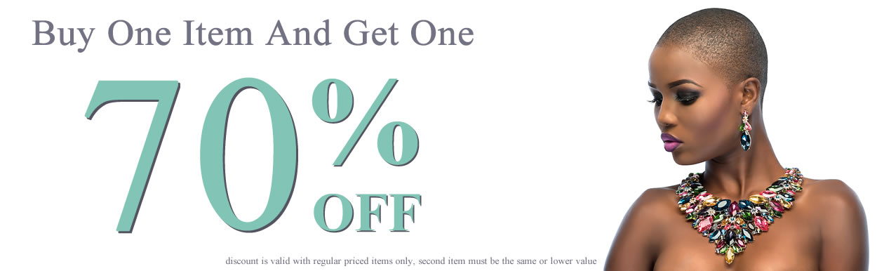 Buy One Item and Get One 70% OFF