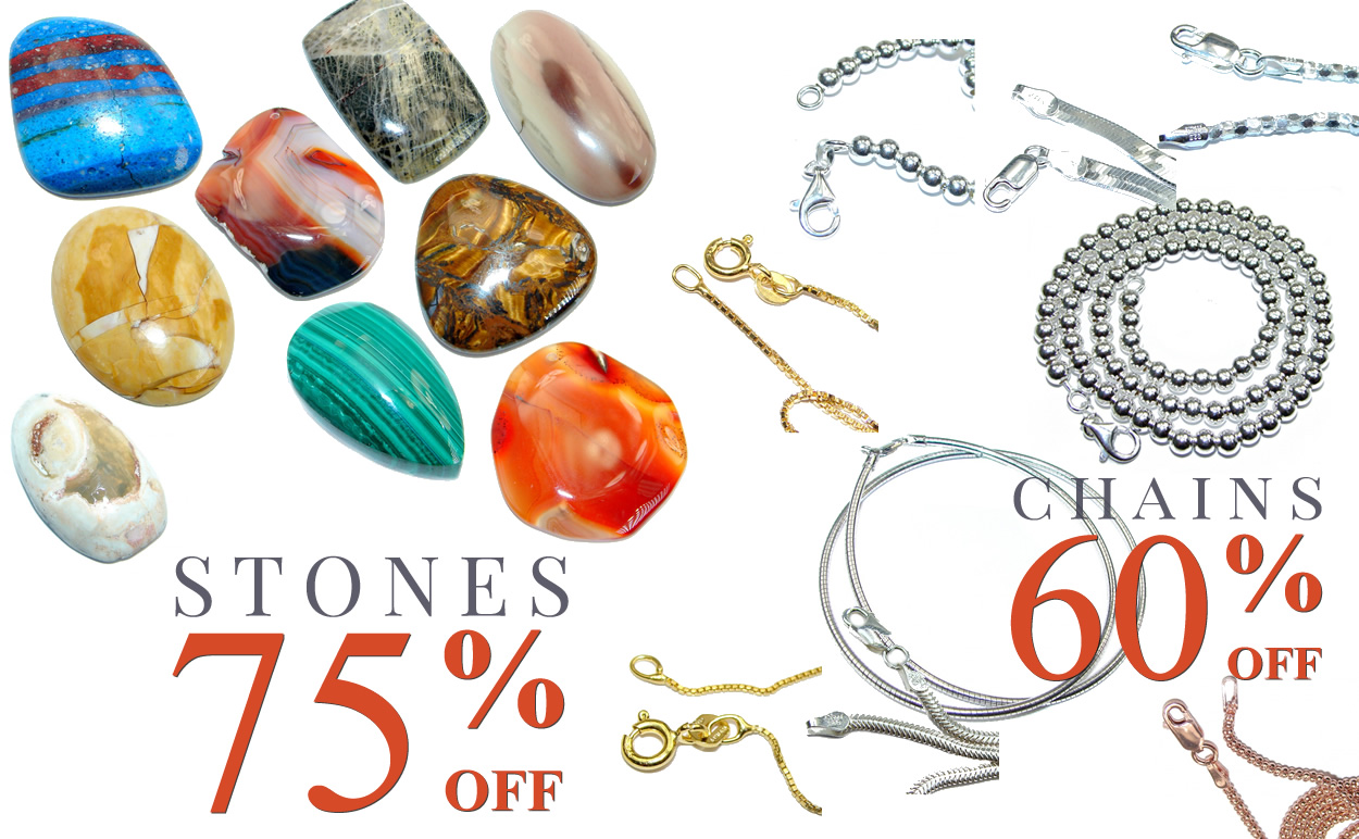 All Chains 60% OFF & Loose Stones 75% OFF