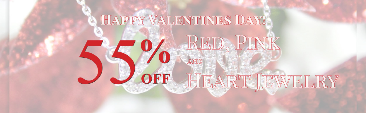 Happy Valentines Day! Red, Pink & Heart Jewelry 55%OFF