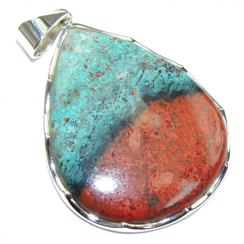 Perfect! AAA Red Sonora Jasper Sterling Silver Pendant