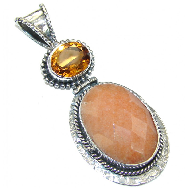Amazing!! Golden Calcite Sterling Silver Pendant