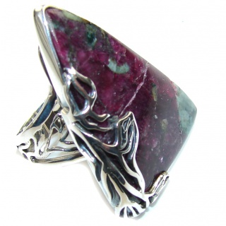 Natural AAA Russian Eudialyte Sterling Silver Ring s. 7 - adjustable