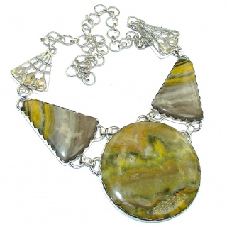 Tropical Glow Yellow Bubble Bee Sterling Silver necklace