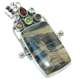 Pale Beauty Green Pietersite Sterling Silver pendant