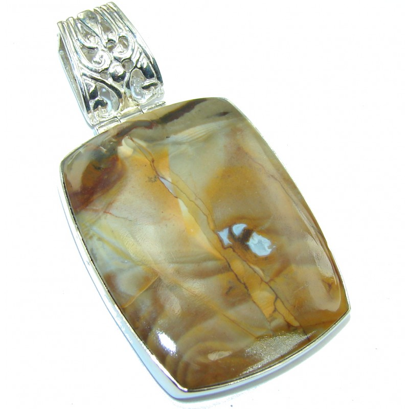 Just Perfect Montana Agate Sterling Silver Pendant