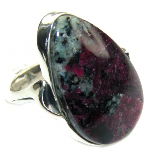 Just Perfect AAA Russian Eudialyte Sterling Silver Ring s. 8 3/4