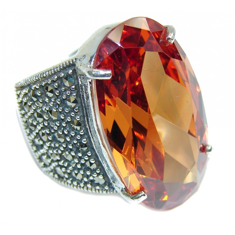 Real Beauty Golden Topaz Sterling Silver Ring s. 6 1/2