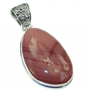 Perfect AAA Imperial Jasper handcrafted Sterling Silver Pendant