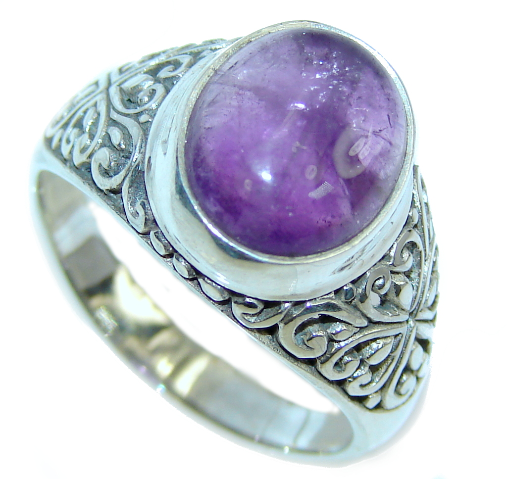 delicate purple amethyst sterling silver ring s 9 560g