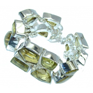 Summer Style Yellow Citrine Sterling Silver Bracelet