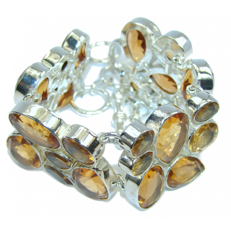 Store Of Love Created Golden Topaz Sterling Silver Bracelet