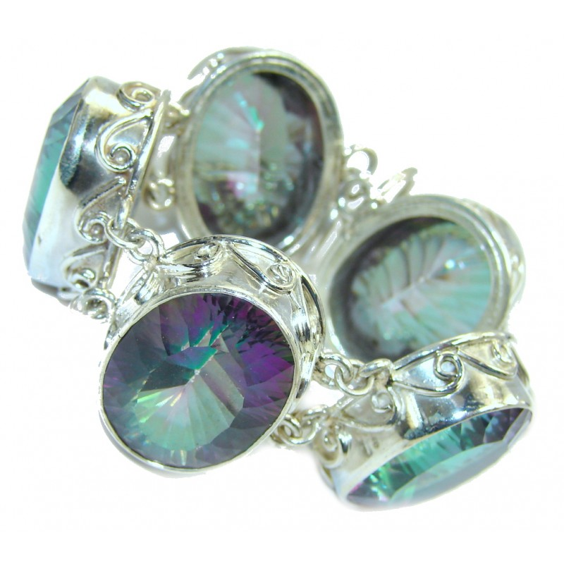 Tropical Beauty Magic Topaz Sterling Silver Bracelet