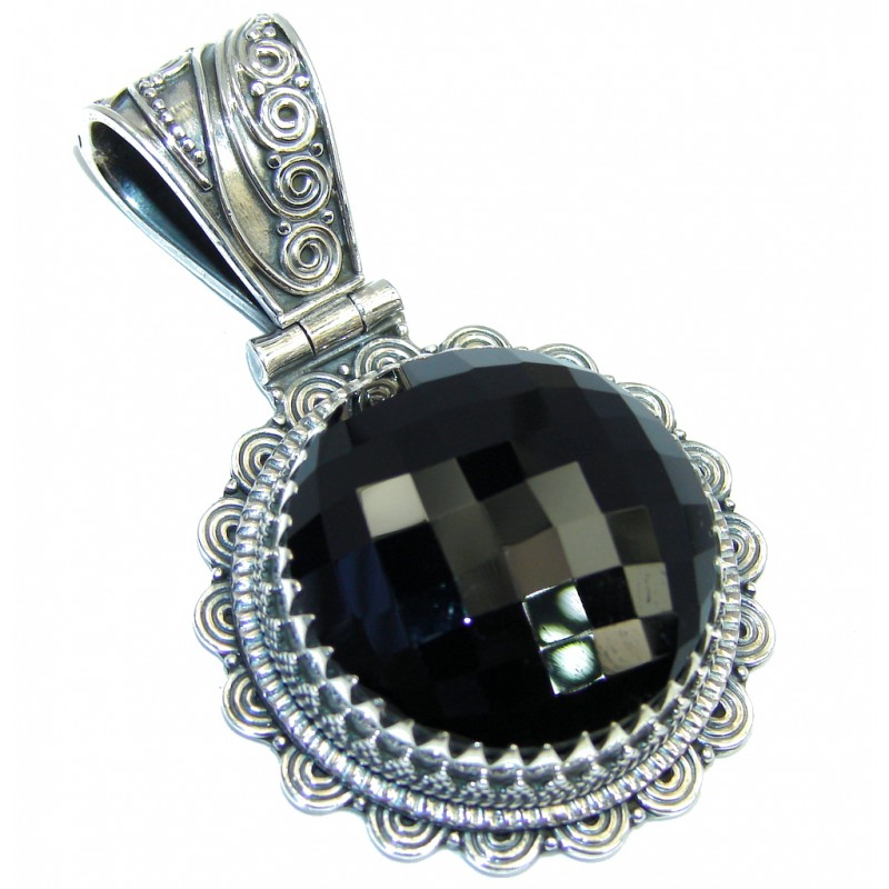 Just Perfect! Black Onyx Sterling Silver Pendant