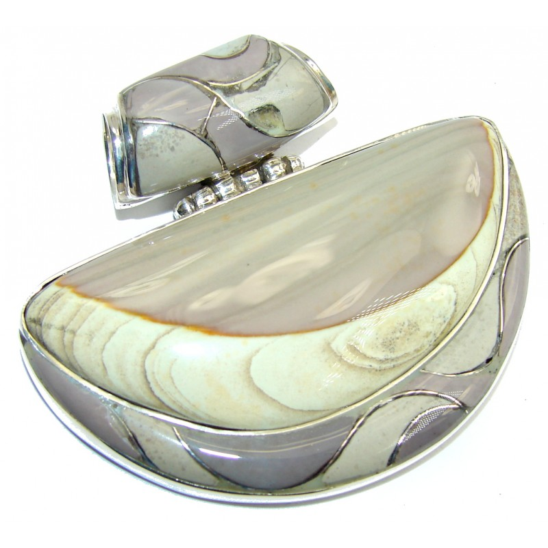 Big! Exclusive AAA Imperial Jasper Sterling Silver Pendant