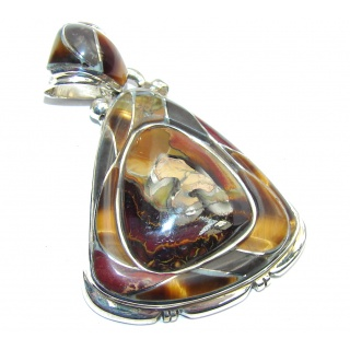Genuine AAA Koroit Opal & Tigers Eye Sterling Silver Pendant