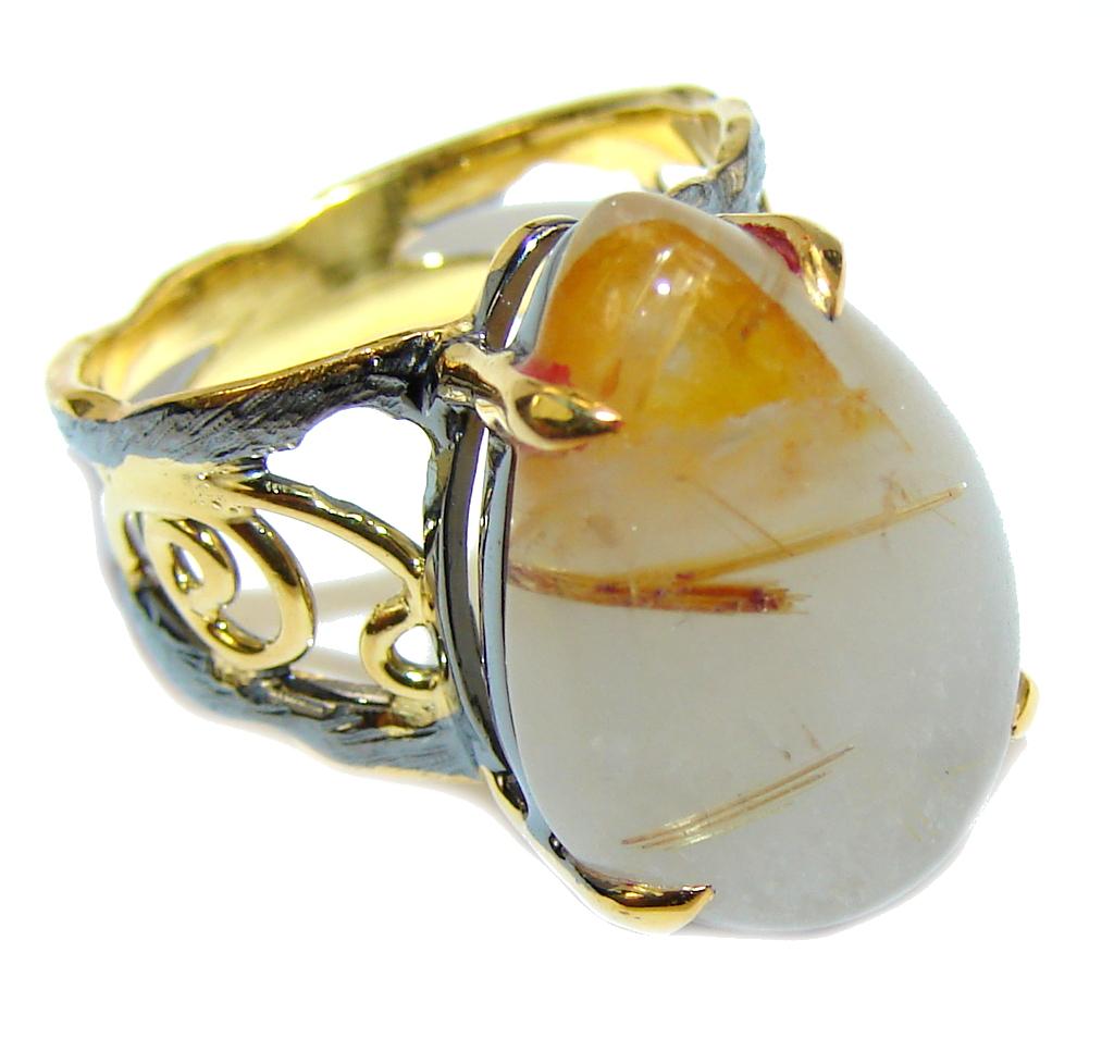 Golden Rutilated Quartz Jewelry Hot Jewelry Trend Golden