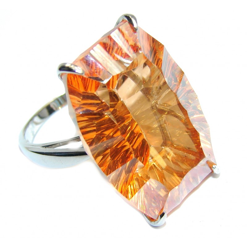Summer Beauty Golden Topaz Sterling Silver Ring s. 7 1/2