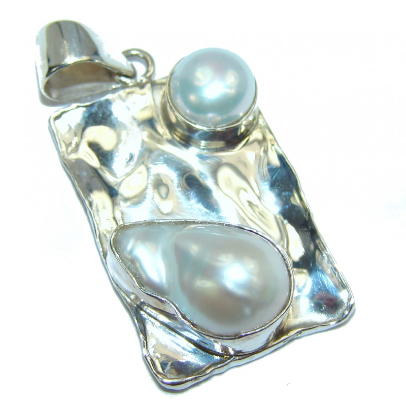 Make a Statment Mother Of Pearl Sterling Silver Pendant
