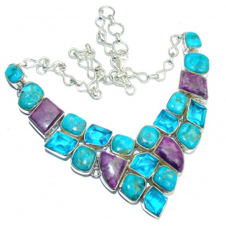 AAA Sleeping Beauty Turquoise Sterling Silver necklace