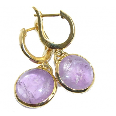 Pure Perfection Purple Amethyst gold over Sterling Silver earrings
