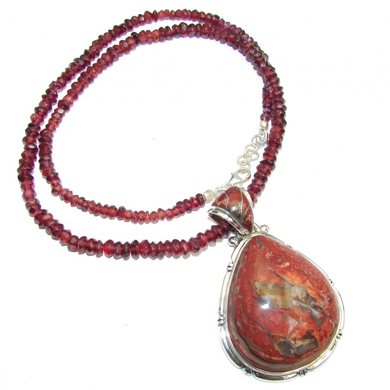 Lasting Impression AAA Mexican Fire Opal Sterling Silver Necklaces
