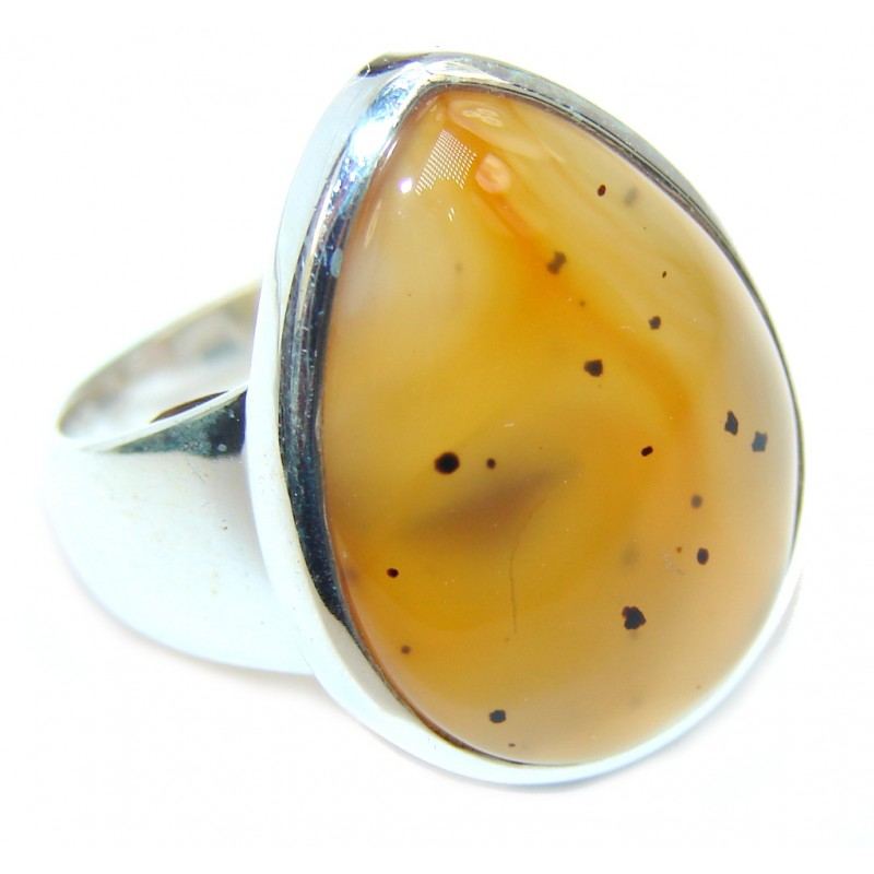 Simplicity Scentic Montana Agate Sterling Silver Ring s. 7