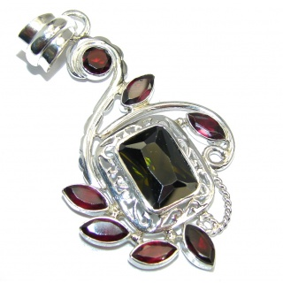 Modern Concept Cubic Zirconia Sterling Silver Pendant
