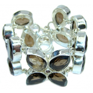 Sands Of Time Created Brown Smoky Topaz Sterling Silver Bracelet