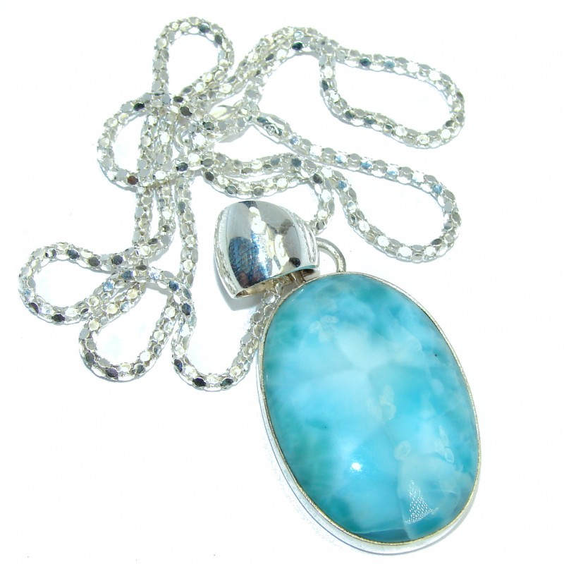 Dominican Republic Blue Larimar Sterling Silver necklace