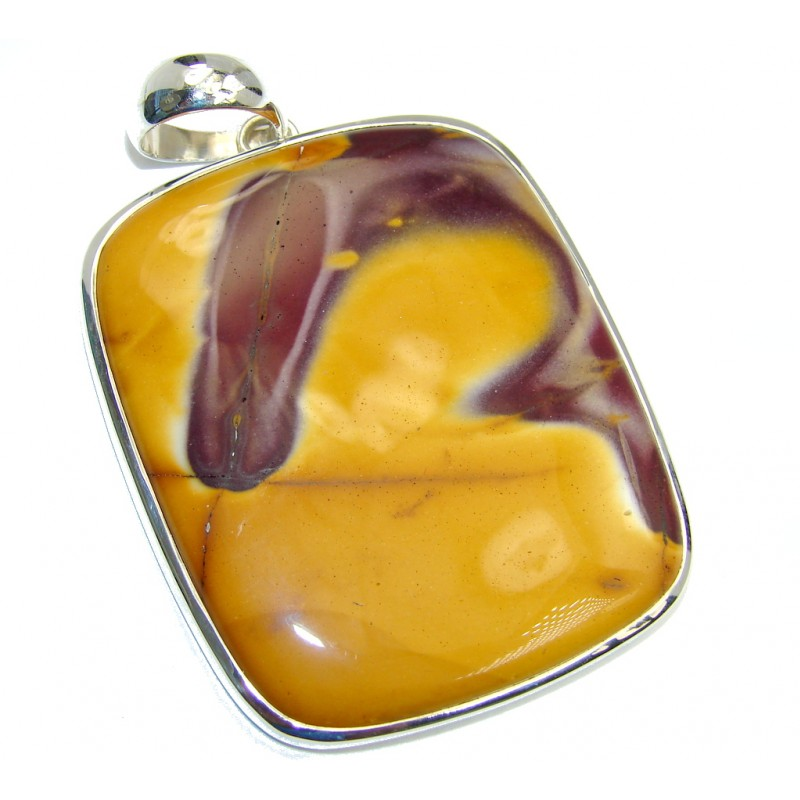 Large! 38.5 grams Natural Australian Mookaite Sterling Silver Pendant