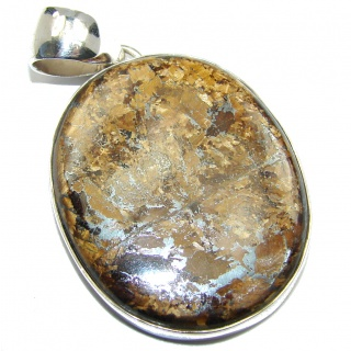 Fabulous Golden Pietersite Sterling Silver pendant