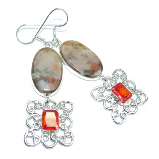 Sublime Brown Agate Sterling Silver earrings