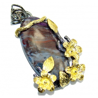 Exclusive Sugalite Gold plated over Sterling Silver Pendant