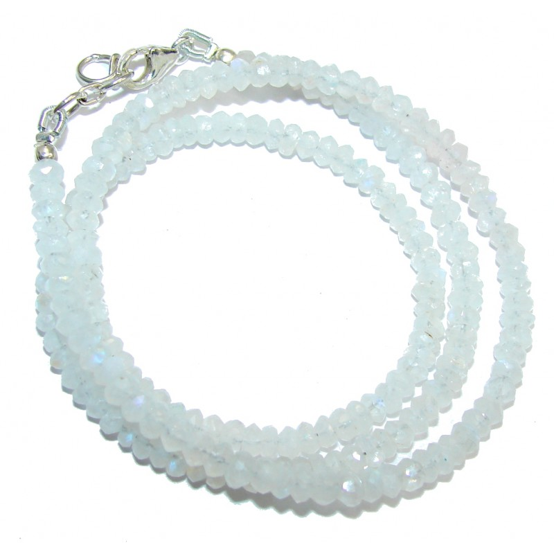 Amazing Genuine Moonstone Sterling Silver Necklace